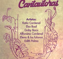 letras color lila y nombres de mujeres cantantes